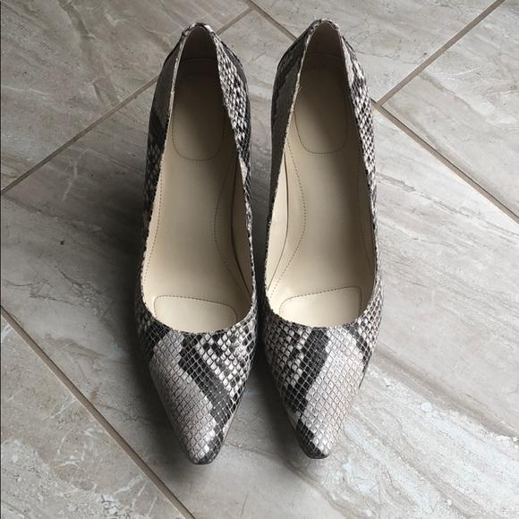 18e840ae927 Calvin Klein Shoes - EUC Calvin Klein Dolly Classic Python Heels